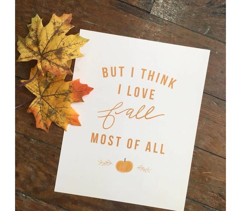 810 Print I Love Fall