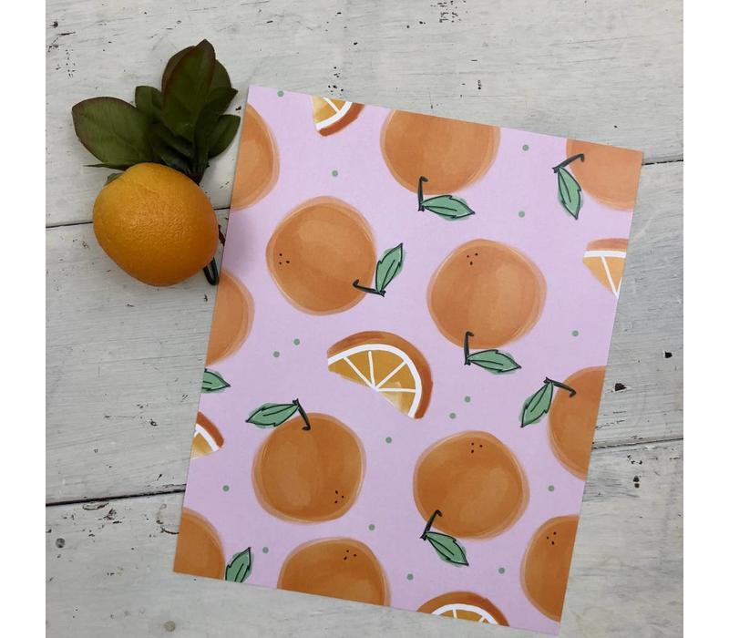 810 Print Lots of Oranges