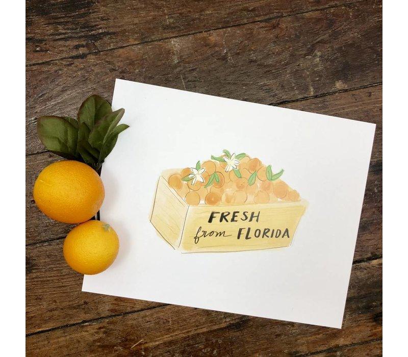 810 Print Orange Crate