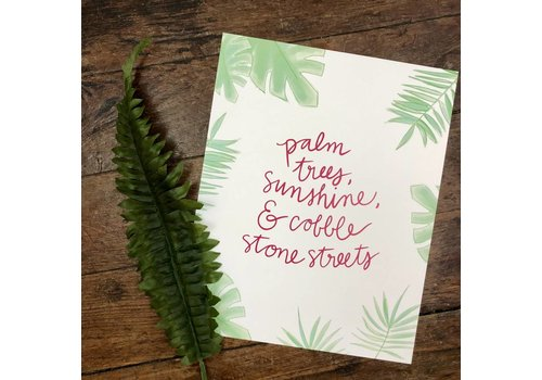 Declaration & Co. 810 Print Palm Trees