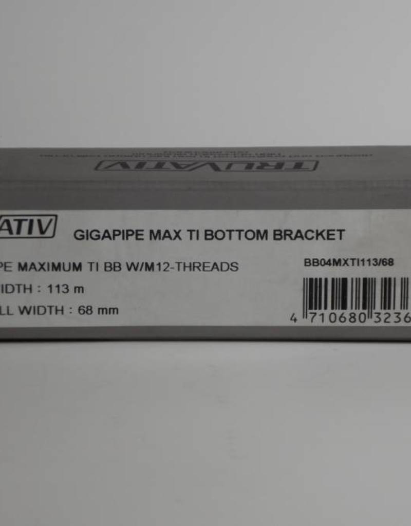 TruVativ GIGAPIPE MAXIMUM TI 113x68 BB W/M-12-THREADS