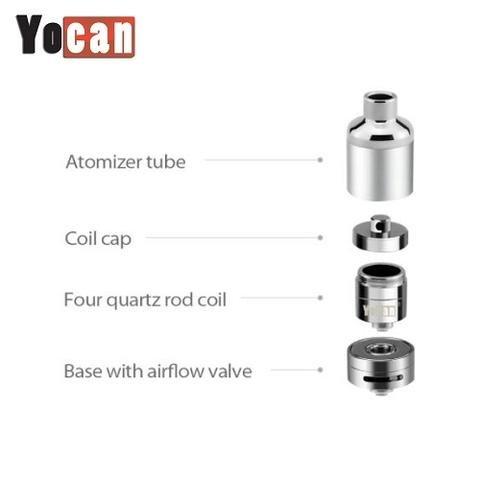 Yo Can Evolve Plus XL Quad Quartz Coil Atomizer