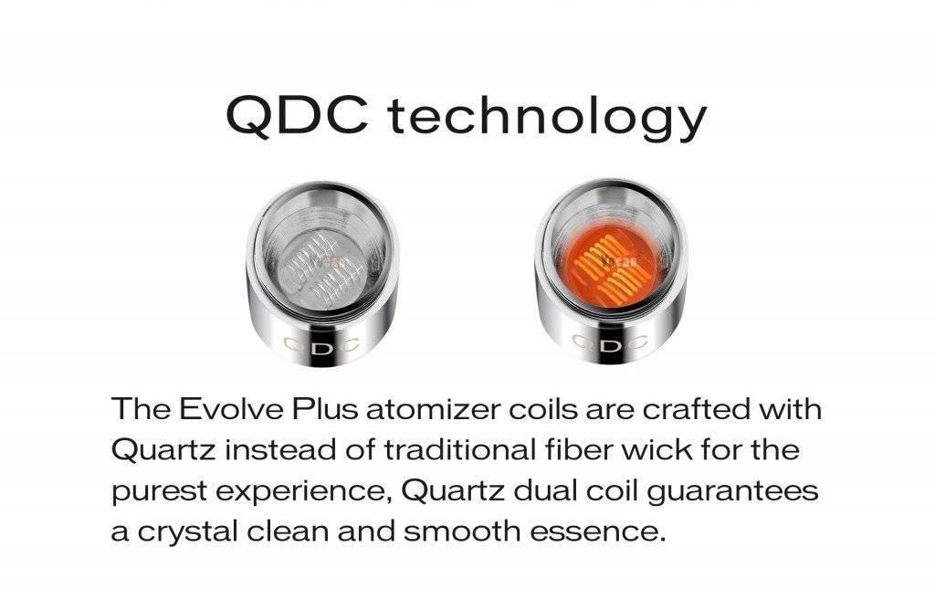 Yo Can Evolve Plus REPLACEMENT Quartz Dual Coil 5pk
