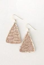 Little Fish Boateak Mast Triangle Earrings