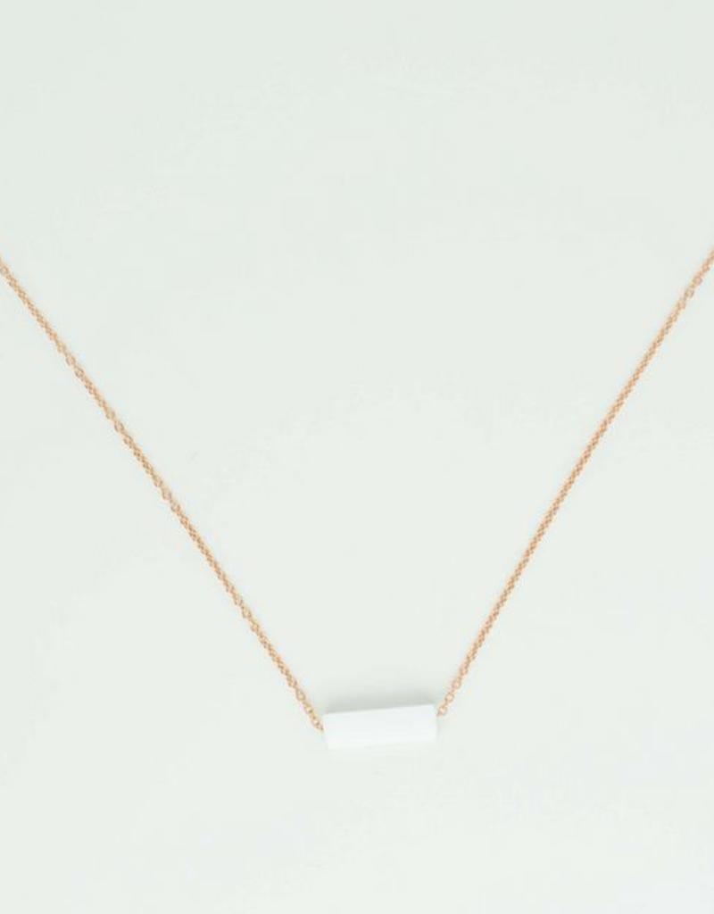 Newport Albi Semipre. Rectangular Stone Necklace