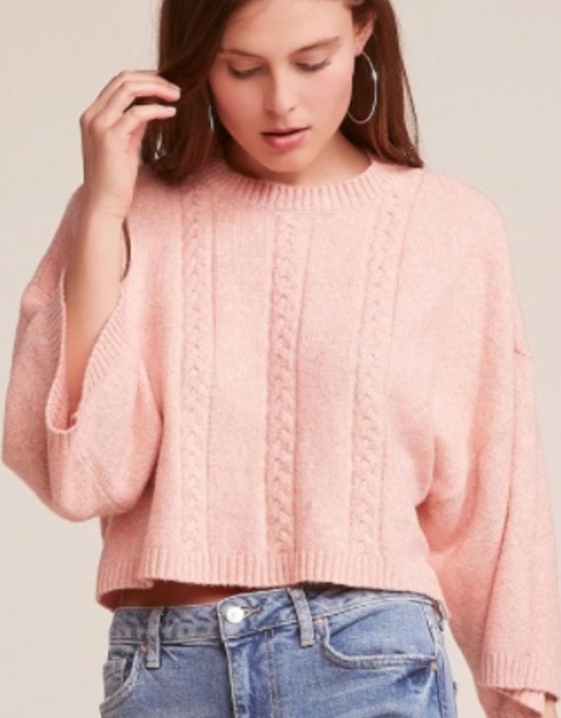 Jack by BB Dakota Extra Whip Crop Cableknit Sweater