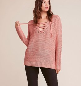 Jack by BB Dakota Hey Ms Carter Lace Up Sweater