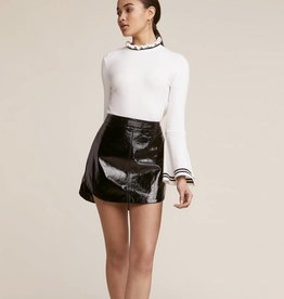 Jack by BB Dakota Retro Royalty Vinyl Skirt