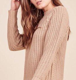 BB Dakota Consider it done braided seam woven sweater