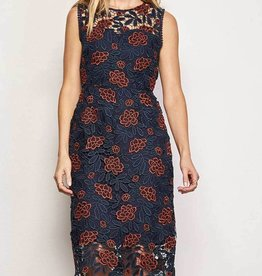 Cupcakes & Cashmere Mandolin Floral Lace Dress