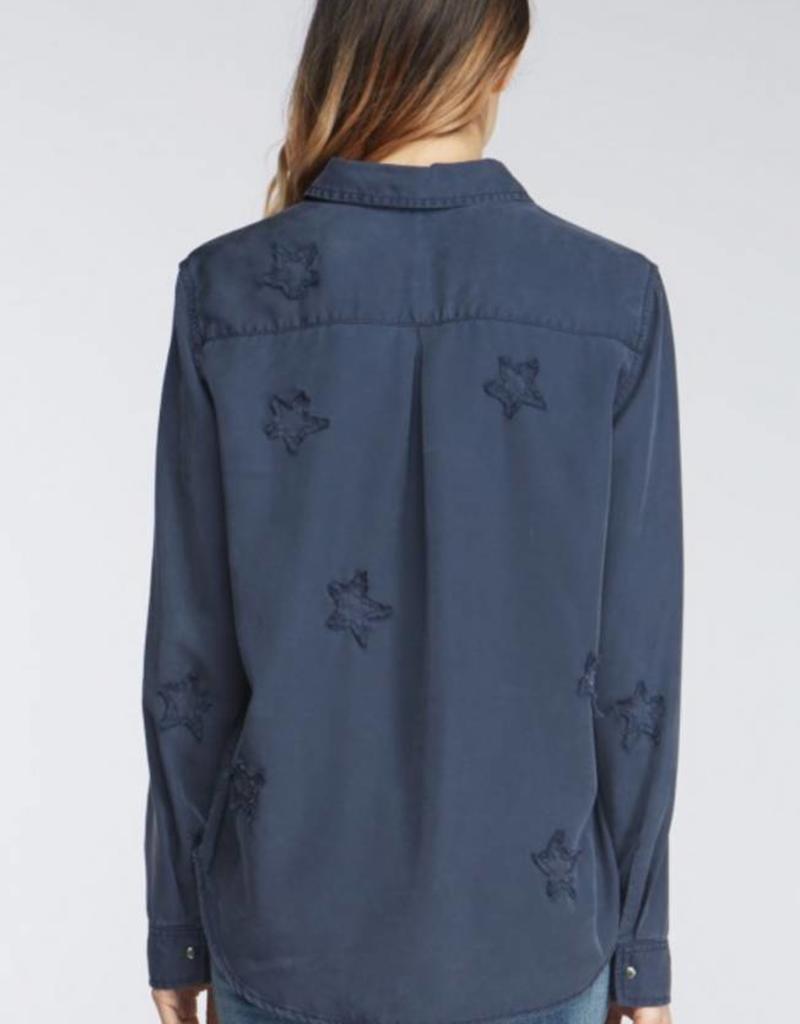 Velvet Heart Baker Snap Down Star Patch Shirt