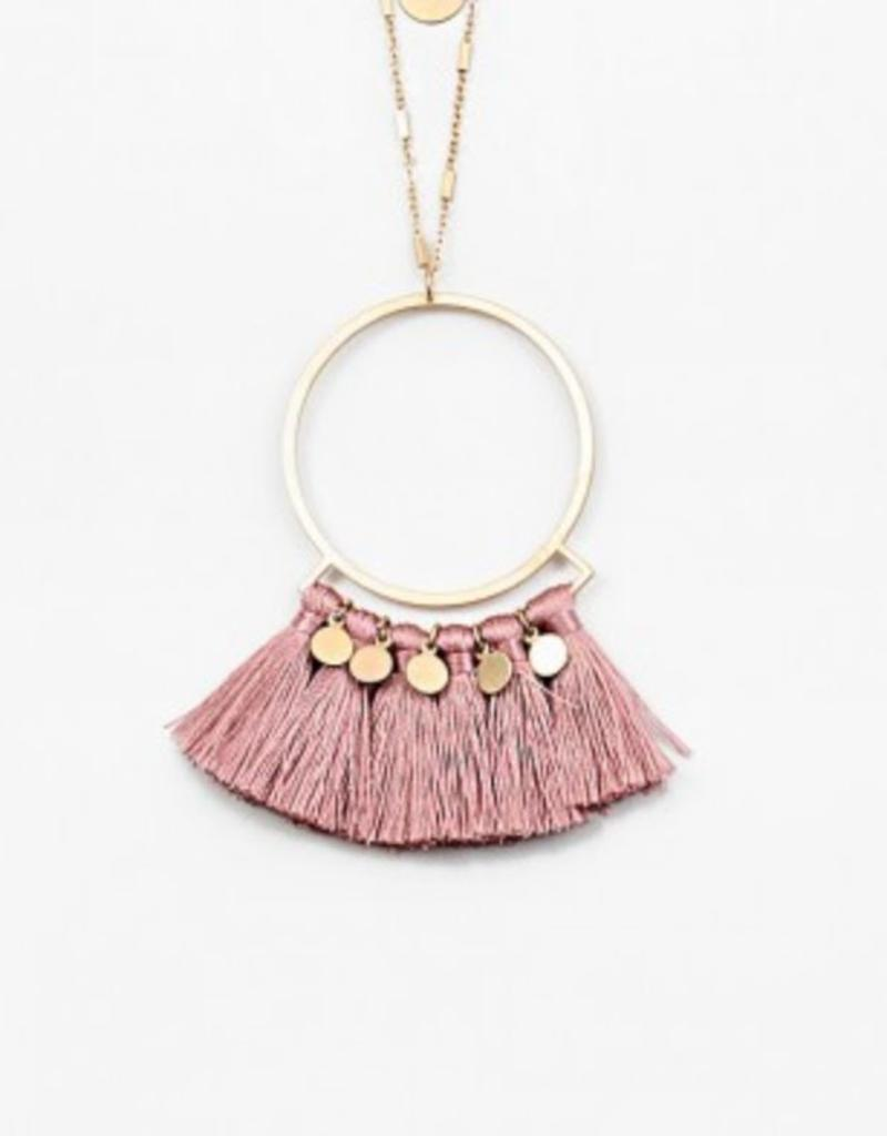 Statement Long Necklace with Tassels