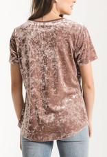 Z Supply The Crushed Velour V-Neck Tee
