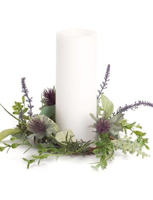 Mixed Herb Thistle Candle Ring