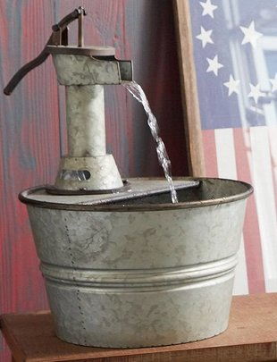 Small Galvanized Water Pump Fountain