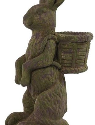 Large Green Rabbit Planter