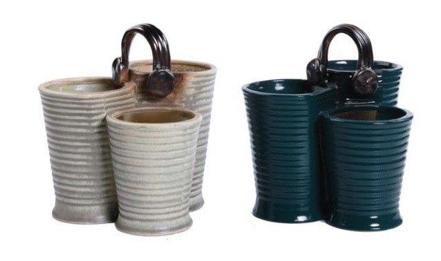Ceramic Triple Planter (2 styles)