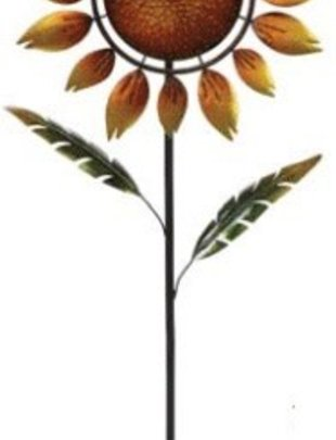 Spinning Sunflower Garden Stake