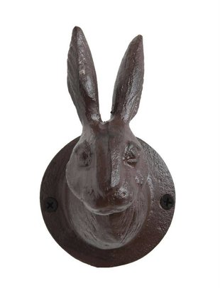 Iron Rabbit Head Hook