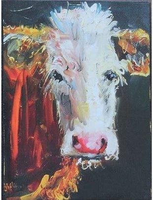 Single Cow Box Print