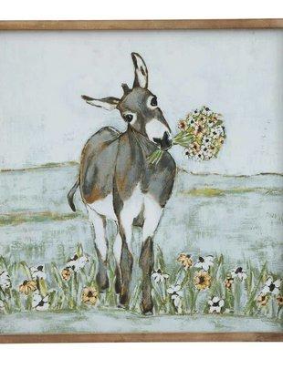 Framed Donkey Meadow Print