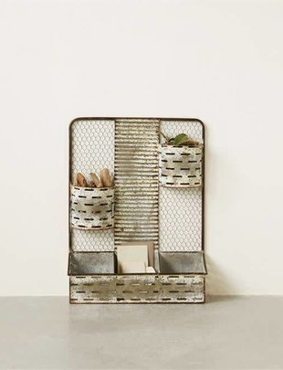 Chicken Wire Metal Wall Organizer