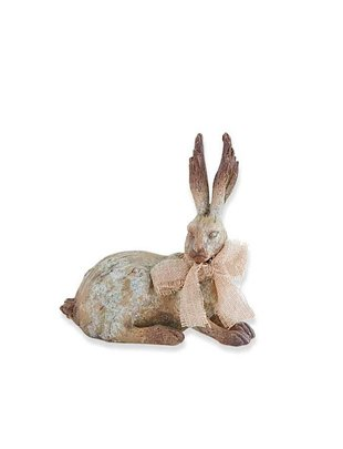 Laying Brown Bunny w/ Bow
