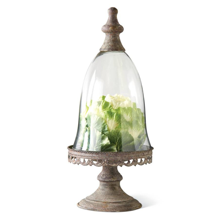 Glass Dome on Pedestal