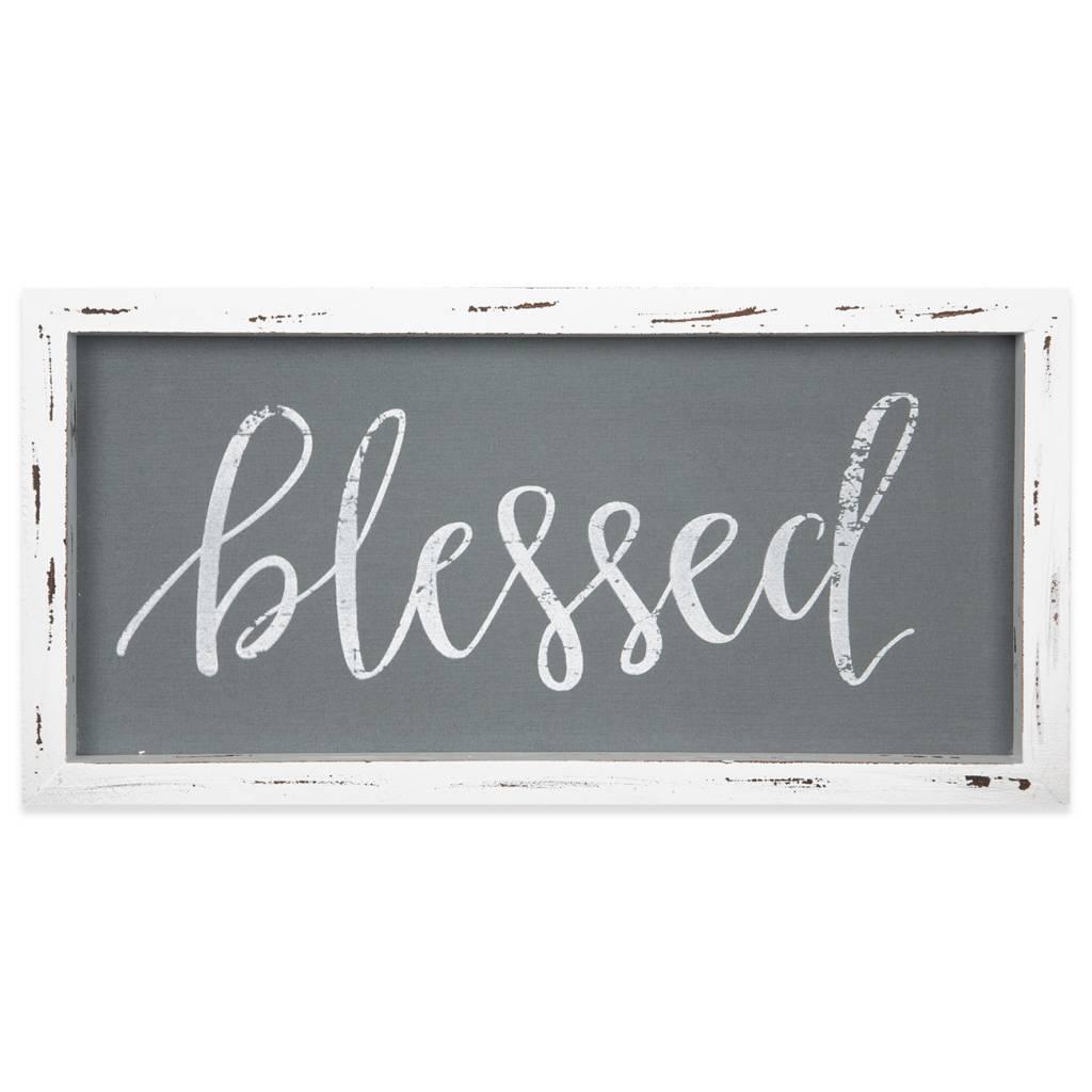 Blessed Linen Vintage Sign