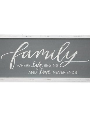 Family Linen Vintage Sign