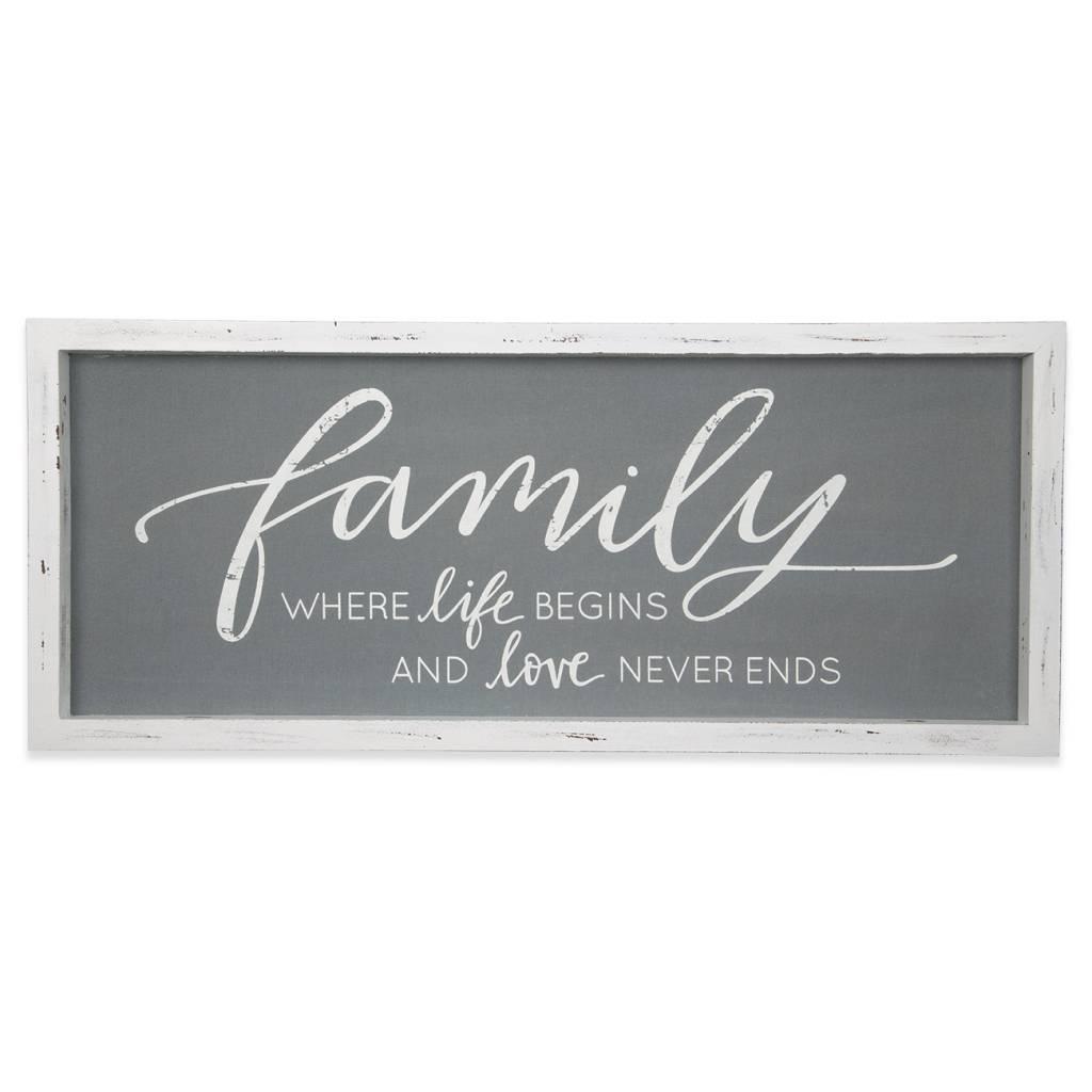 Family Linen Vintage Sign