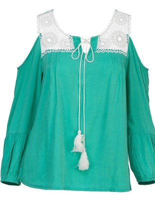 Lace Cold Shoulder Top (3 Colors)