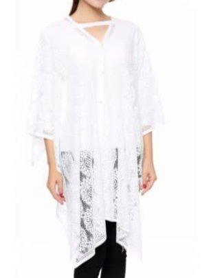 White Lace Pearl Wrap