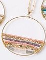 Beaded Circle Necklace