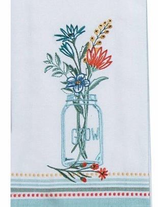 Mason Jar Grow Tea Towel