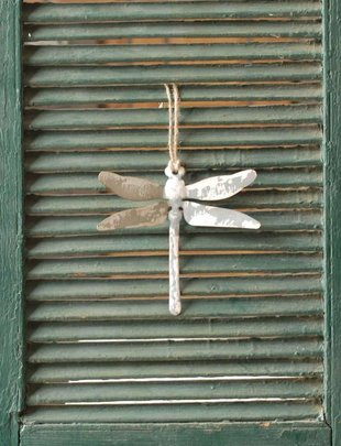 Galvanized Hanging Dragonfly