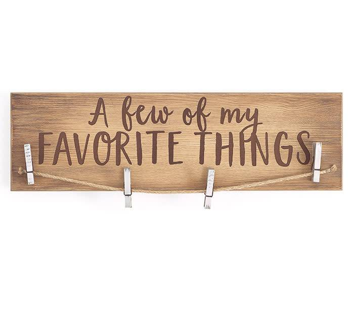 Favorite Things Wooden Photo Holder