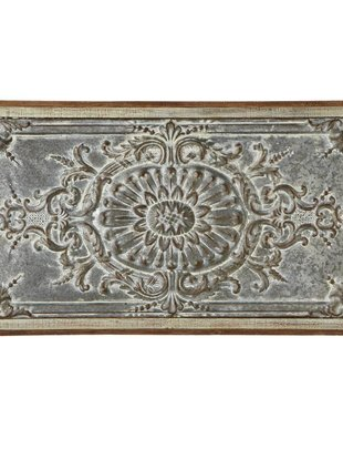 Rectangle Distressed Metal & Wood Wall Art