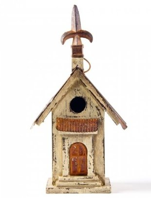 Rustic Distressed Church Birdhouse