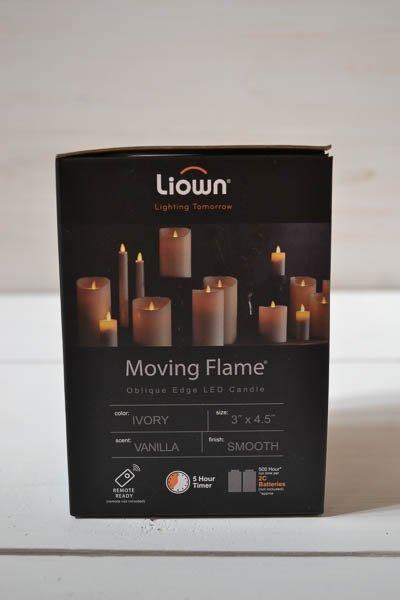 Liown Battery Pillar Candle