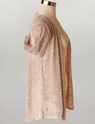 Lace Panel Cardigan (2 Colors)