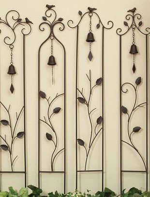 Brown Bird Trellis w/ Bell (4 Styles)