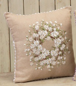 Burlap Wreath Pillow