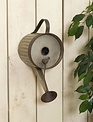 Galvanized Wall Watering Can Birdhouse