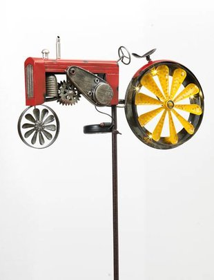 Red Solar Tractor Spinner