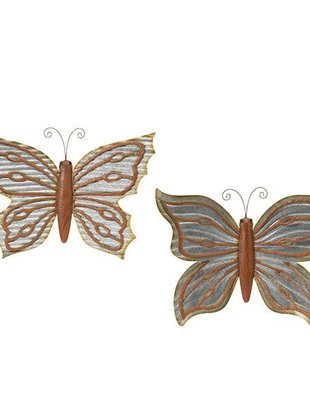 Large Galvanized Wall Butterfly (2 Styles)