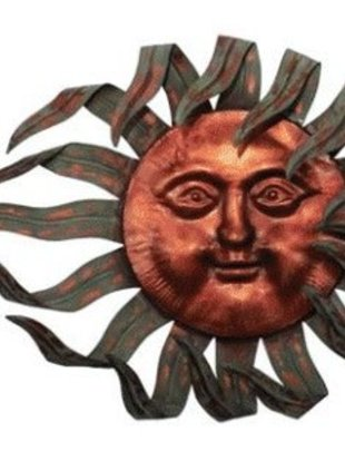 Large Wind Blown Sun Face (2 Styles)