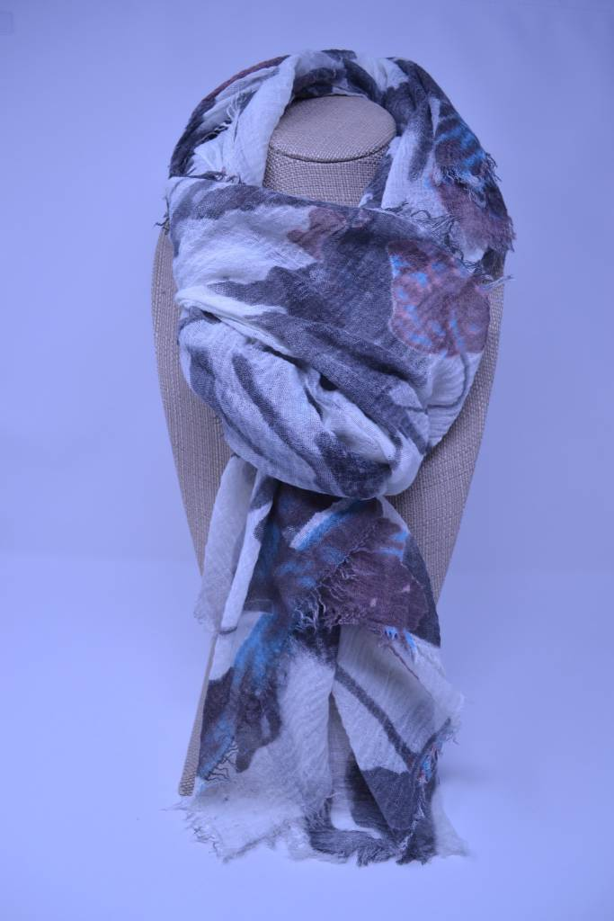 Abstract Flower Scarf