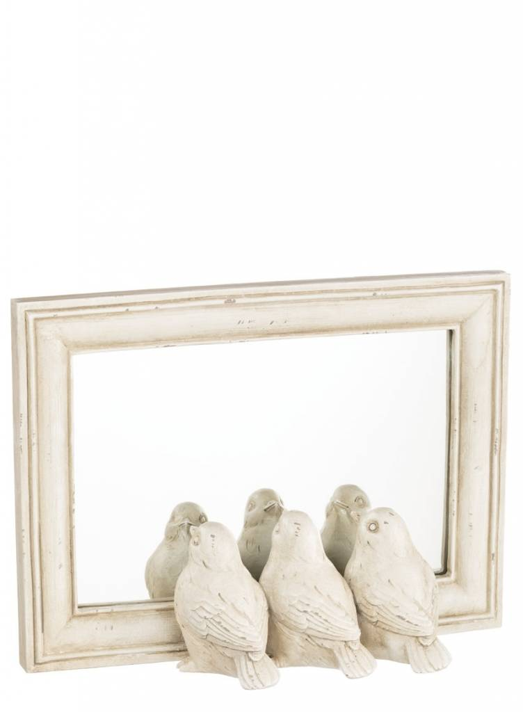 Cream Triple Bird Mirror