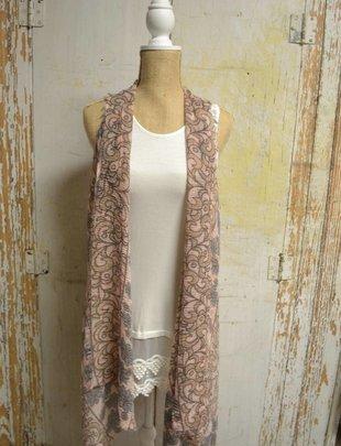 Flower & Vine Vest (3 Colors)